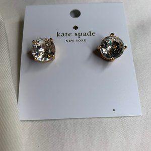 New Kate Spade Clear Gumdrop Stud Earrings